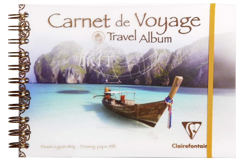 Super Clairefontaine - 96104C - Album de Voyage, Couverture Transparente  ZG07