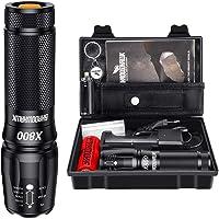Shadowhawk X800 Lampe de poche LED CREE ultra lumineuse, 4000 lumens, lampe de poche tactique rechargeable avec zoom…
