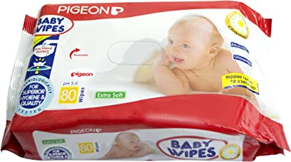 Pigeon Baby Wipes, Chamomile (80 Sheets)