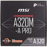 MSI A320M-A Pro - Placa Base AM4 Micro ATX AMD A320 A320M-A Pro, AMD, ubicación AM4, AMD Athlon, AMD Ryzen, DDR4-SDRAM, DIMM,