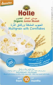 Holle Organic Junior Muesli Multi-grain with Cornflakes, 250 grams