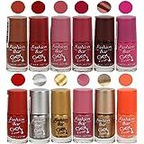 Fashion Bar Nail Polish Combo,Multi Color, 60ml, Pack of 12
