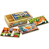 Melissa & Doug Pets 4-in-1 Wooden Jigsaw Puzzles