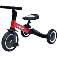 Luvlap 2 in 1 Galaxy Balance Bike Cum Tricycle, Red, 1-5 Years