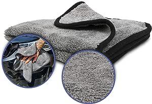 Mikrofasertuch Extrem Saugstark Nero Perfekt Für Die Autopflege Als Trockentuch Oder Poliertuch Für Innen Und Außen Das Auto Zubehör Flauschig Weich Microfasertücher 100 Fusselfrei Auto