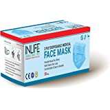 INLIFE 3ply Non Woven Disposable Face Mask for Pollution with Nose Pin & Flexible Ear Loop Dust Mask Nose Mask Mouth…