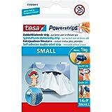 tesa 57550-00013-01 Powerstrips Kleine, zelfklevende strips - dubbelzijdige strips geschikt voor vlakke en gladde oppervlakke