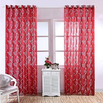 Moresave Wohnzimmer Fenster Vorhang Tll Blumenvorhang Voile Gardinen Schals Mit Sen Amazonde Kche Haushalt
