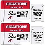 Gigastone 32GB Tarjeta de Memoria Micro SD, Paquete de 2, Gaming Plus, Compatible con Nintendo Switch, Alta Velocidad 90 MB/s