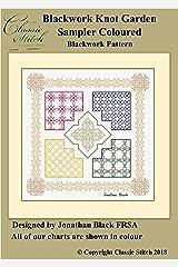 Blackwork Knot Garden Sampler Coloured Blackwork Pattern Kindle Edition