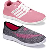 Axter Women's (5054-5046) Multicolor Casual Sports Running (Set of 2 Pair)