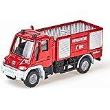 SIKU 1068, Camión de bomberos Unimog, 1:87, Metal/Plástico, Rojo, Ruedas de goma, Vehículo de juguete para niños