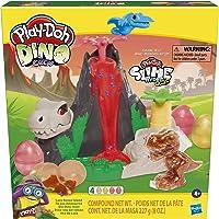 Play Doh Dino Crew Slime, Jouet Île aux Dinosaures, avec pâte HydroGlitz atoxique, pour Enfants dès 4 Ans