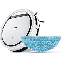 MEDION Saugroboter mit Wischfunktion (90 Min. Laufzeit, 2in1 Saug und Wisch Roboterstaubsauger für Hartböden, Teppiche…