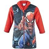 Marvel Avengers Spider-Man – Chaqueta de dormitorio Bata con cremallera de forro polar de pelo largo – Niño