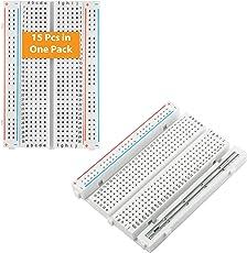 ALLDREI 15PCs 400 Breadboard Steckbrett Set für Raspberry pi/Arduino Elektronisches Experiment