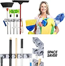 Skyzone Rack Tool Smart Cool Mop and Broom Holder Wall Mounted Garden Tool Storage Tool Rack New