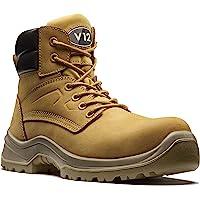 V12 Bobcat, S1P Nubuck Safety Boot, Size 06, Honey