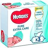 Huggies Pure Extra Care Toallitas para Bebé - 1 caja con 4 paquetes (3 x 56 toallitas por paquete)