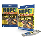 NOPE! Ant Killer Bait Station (Pack of 6) Indoor & Outdoor. Clean, Quick, Long-Term solution to ant infestation.