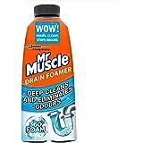Mr Muscle Drain Foamer, Drain Cleaning Foam to Unblock & Eliminate Odour, 500 ml
