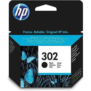 HP 302 Schwarz Original Druckerpatrone für HP Deskjet, HP ENVY, HP Officejet