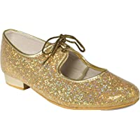 Tappers & Pointers Girls/Ladies Glitter Hologram Tap Dance Shoes