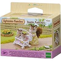 Sylvanian Families - Le Village - La Poussette Double - 4533 - Meubles et Accessoires Poupée - Mini Poupées