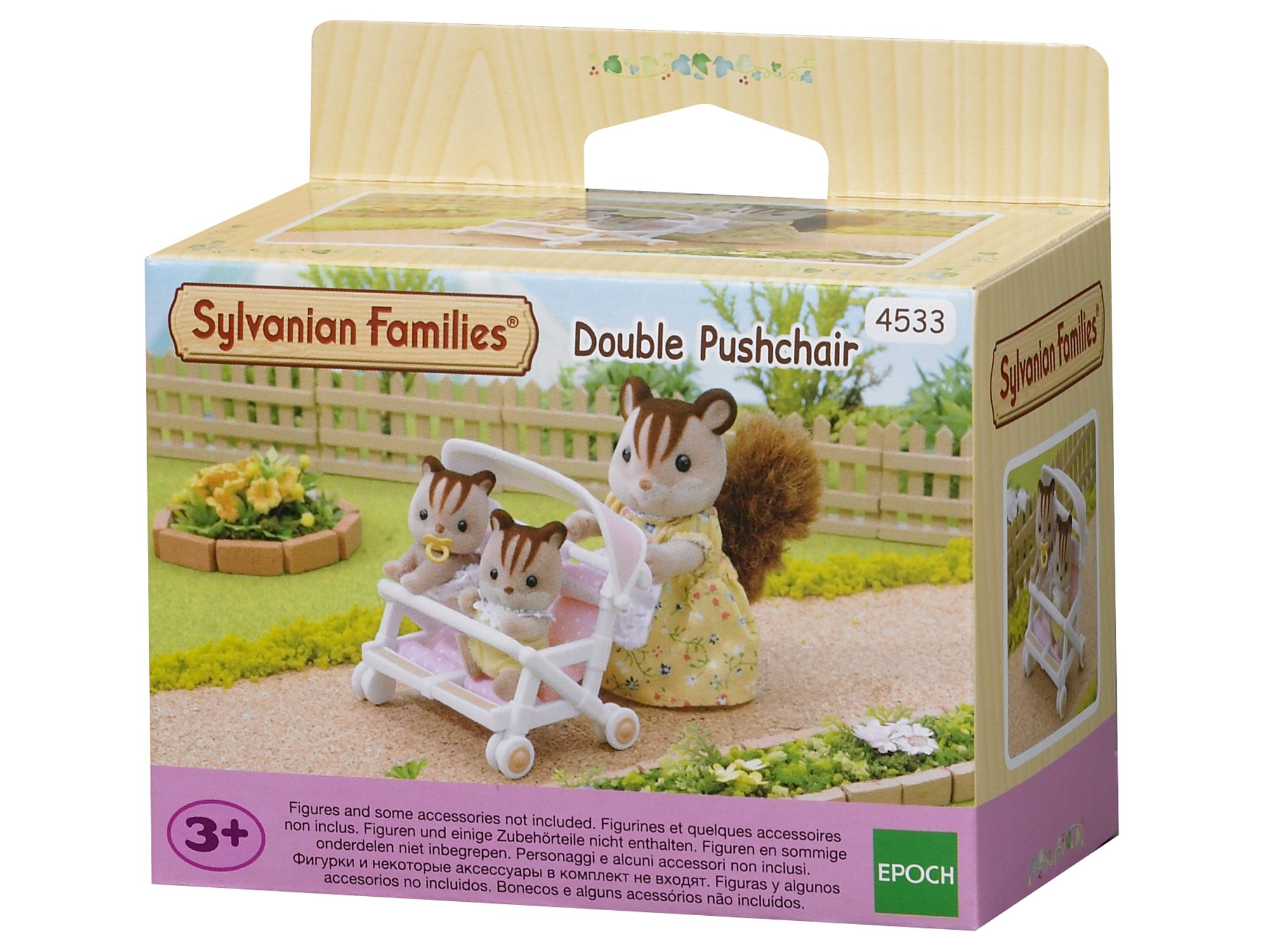 Sylvanian Families - Double Pushchair Sylvanian Families Accessory for your Sylvanian family home Pushchair for two babies Well-made with fine attention to detail 1
