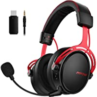 Ultra Light Over-Ear Gaming Headphones for Switch Upto 20 Hours of Use Mpow Iron Pro 2.4G Wireless Gaming Headset for PS4//PC Computer Headset with Dual Chamber Driver Noise Cancelling Mic Bass