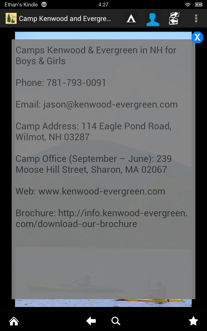 Camp Kenwood And Evergreen (Kindle Tablet Edition): Amazon.co.uk ...