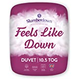 Slumberdown Feels Like Down Piumino, Microfibra, Bianco, 10.5 Tog - King