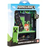 Minecraft Stationery Set, Back to School Supplies, Notebook & Pencil Case Set, Official Merchandise
