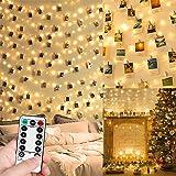Guirlande Lumineuse Photo, 10M 100LED Guirlande Photo Batterie Alimenté Porte Photos Avec 50 Photo Clips Decoration Interieur