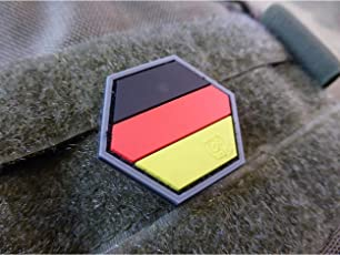 Jackets To Go Deutschland Germany Flagge Hexagon 3D Rubber Patch, HexPatch