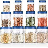 Milton Vitro Plastic Pet Storage Jar and Container, Set of 12 (4 pcs x 270 ml Each, 4 pcs x 665 ml Each, 4 pcs x 1.24…