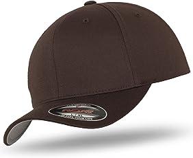 Original FLEXFIT Basecap Baseball Cap Kappe Wooly Combed im Bundle mit UD Skull Bandana in vielen Farben
