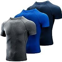 Niksa 3 Pezzi Maglietta Uomo,Maglia a Manica Corta Traspirante Asciugatura Rapida Compression da Uomo Sport per Correre…