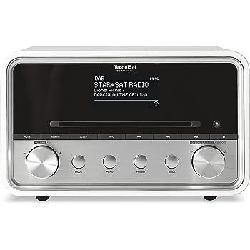 TechniSat Digitradio 580 Internetradio (Spotify, WLAN, LAN, DAB+, DAB, UKW, CD-Player, Bluetooth, USB 2.0, Radiowecker, Wifi-Streamingfunktion, Multiroom, 2 x 10 Watt Lautsprecher) weiß