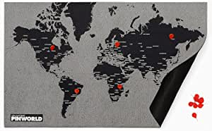 Palomar Pin Weltkarte Mini Schwarz