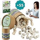 Aimez La Nature 55 Perles de Céramique EM® Avec Sachet Coton Certifié Bio et Pack Ecologique, Purificateur Naturel Eau Robine