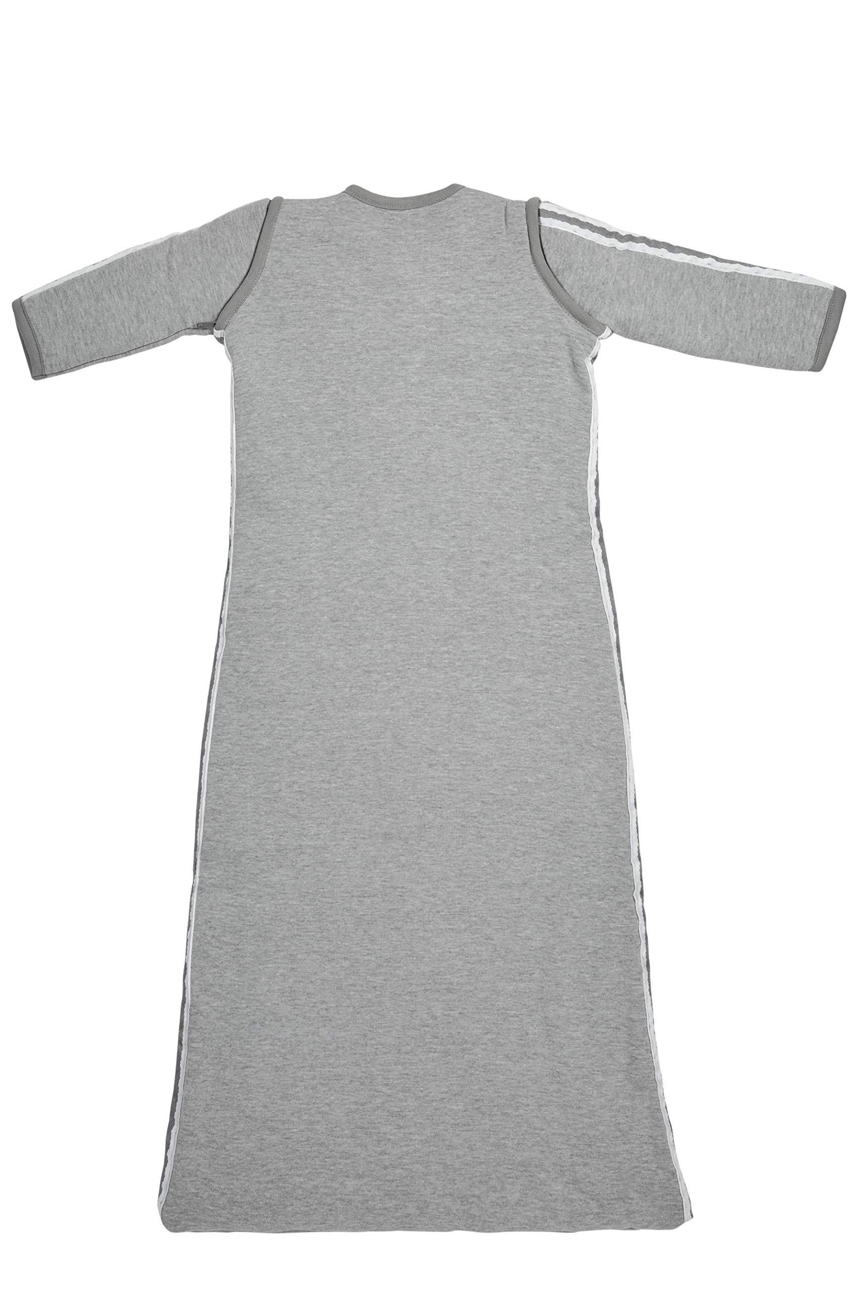 81kr6AGdfCL - Meyco 514025Saco de dormir de invierno 90cm, Gris con Lurex ribete gris
