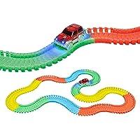 Popsugar Magic Tracks The Amazing Racetrack That Can Bend, Flex and Glow 168pcs, Multicolor