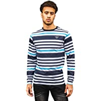 Kandor Long Sleeve T-Shirts for Men, Casual 100% Cotton Striped T-Shirts