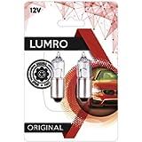 Lumro Original BA9S H10W 10W Angel Eyes Parking Light Replacement Bulbs
