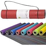 Goods & Gadgets Body & Mind Yogamatte - umweltfreundliche, Hypo-allergene Yoga TPE-Matte - extrem Rutschfest, weich und schadstoff-frei - 183 x 61 x 0,5cm inkl. Trageschlaufen