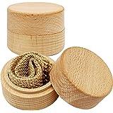 Fahibin Ringbox aus Holz, Ringbox mit Kissen Schmuckkästchen für Schmuck wie Ringe Halsketten Ohrringe usw verwendet