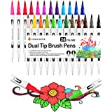 Rotuladores Lettering Brush Pen 24 Colores Rotuladores Acuarelables Marcadores para Bullet Journal Adultos Lettering Caligraf