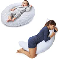 Niivetto Pregnancy Pillow for Sleeping XXL Multifunctional Breastfeeding Pillow Baby Maternity Full Body 100% Cotton Pillowcase Removable Support Belly Pregnant Woman (BLUEFISH)