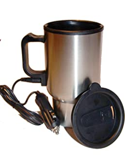 Beheizbarer Thermobecher, mit Kfz USB Ladekabel, 12 V